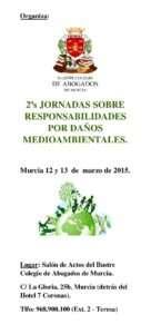 Tríptico de las Jornadas sobre Responsabilidad por Daños Medioambientales