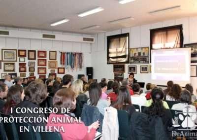 Raquel López en el I Congreso de Protección Animal en Villena