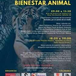 Cartel 1a Jornada de Sensibilización y Bienestar Animal en Murcia
