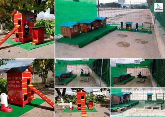 Casetas para Gatos Ferales de la Protectora Soy Su Voz, Yecla