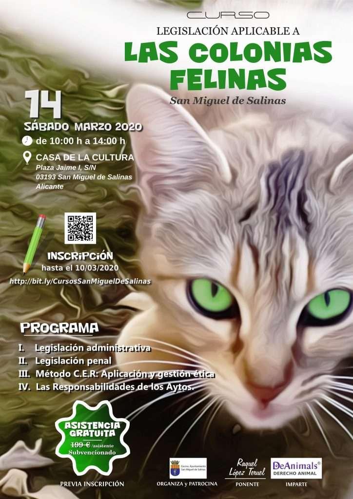 Cartel del Curso-Colonias Felinas-DeAnimals 2020-03-14