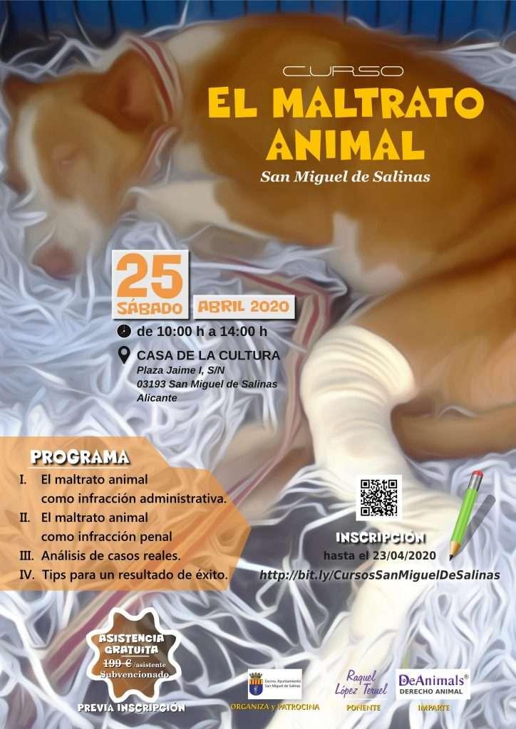 Cartel del Curso-Maltrato Animal-DeAnimals 2020-04-25