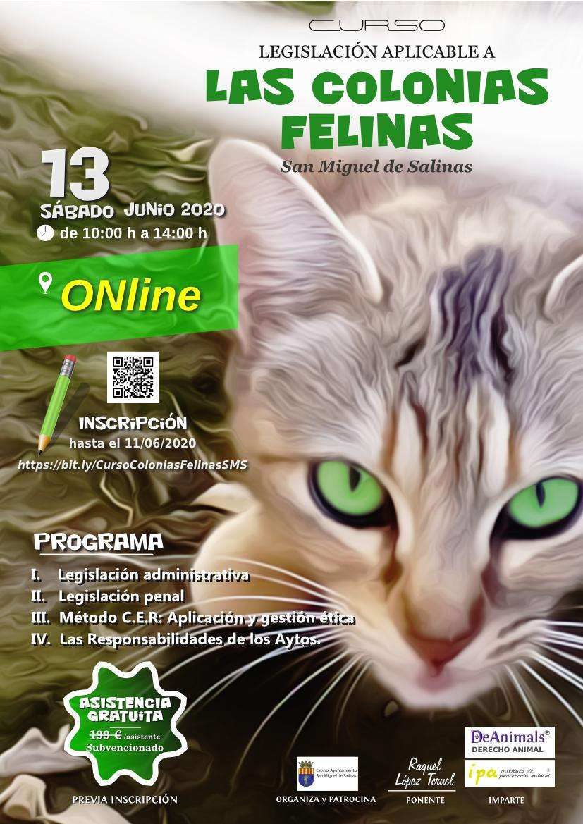 Cartel del Curso-Colonias Felinas-DeAnimals-IPA 2020-06-13