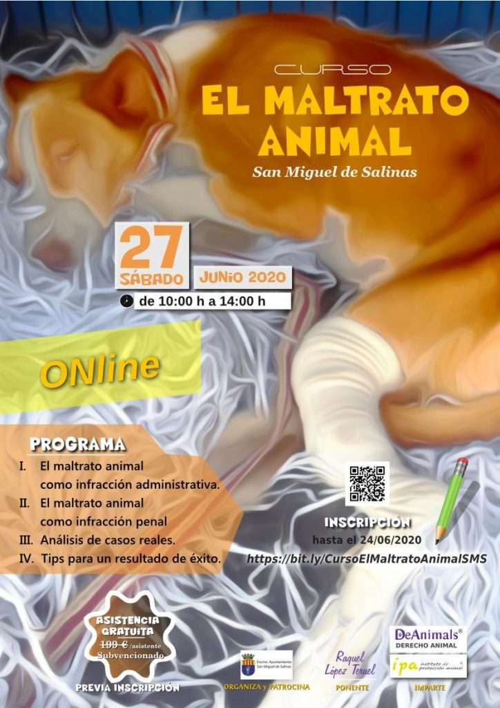 Cartel-Curso-Maltrato Animal-Español - Streaming